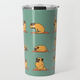 Pug Yoga Travel Mug