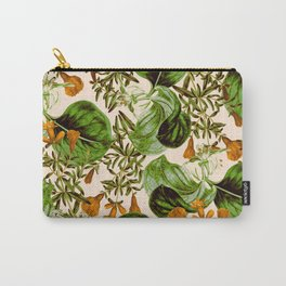 Orange Floral Botanic Carry-All Pouch