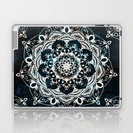 Glowing Spirit Mandala Blue White Laptop & iPad Skin