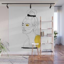 Yellow Sketch Wall Mural