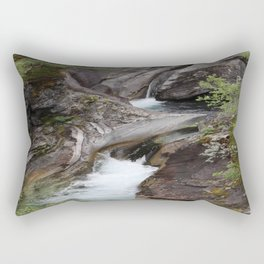 Norwegian waterfall photo, landscape photos, pothole, Instant download, Fine art gifts  Rectangular Pillow