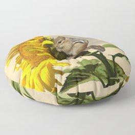 Waiting for the Sunflower Floor Pillow