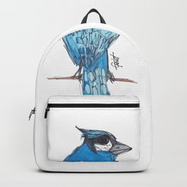 """Blau"" Blue Jay Black / Grey / Blue Backpack"