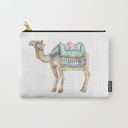 Boho Camel Tassel India Morocco Camel Watercolor Carry-All Pouch
