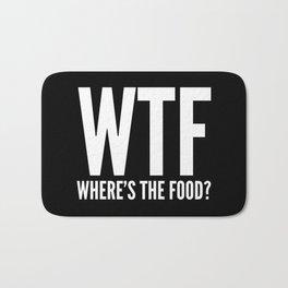 WTF Where's The Food (Black & White) Bath Mat