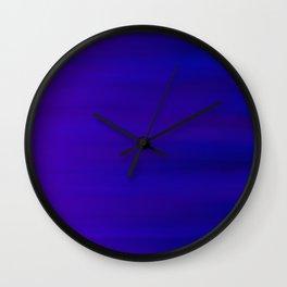 Ultra Violet to Indigo Blue Ombre Wall Clock