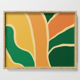Nature colors abstract 4 Serving Tray