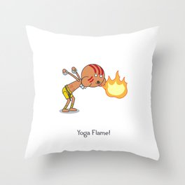 Yoga Flame! Throw Pillow