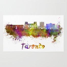 Tarento skyline in watercolor Rug