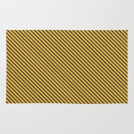 Spicy Mustard and Black Stripe Rug