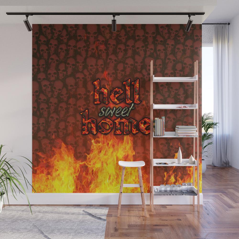 Hell Sweet Home Wall Mural by Popalien WMP8068142