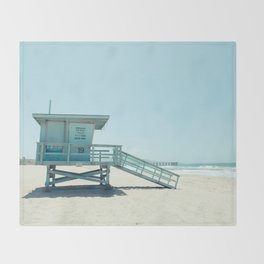Hermosa Beach Lifeguard Tower 19 Throw Blanket