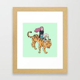 Tiger rider Framed Art Print