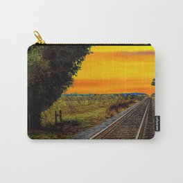 Sunset on Southern Tracks Carry-All Pouch