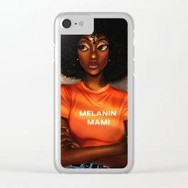 Melanin Mami Clear iPhone Case