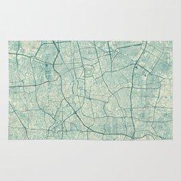 Jakarta Map Blue Vintage Rug