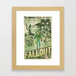 FALLOUT FAN ART (alt) Framed Art Print