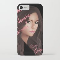the vampire diaries iPhone & iPod Cases featuring Elena Gilbert (The Vampire Diaries) by Ally Hsia