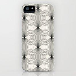 Geometric Orb Pattern - Black iPhone Case