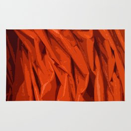 Red Curtain Creases Rug