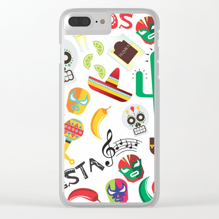 fiesta mexa Clear iPhone Case