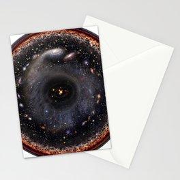 Observable universe logarithmic illustration Stationery Cards