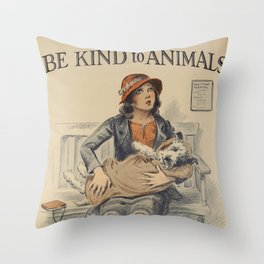 Be Kind To Animals 4 Throw Pillow