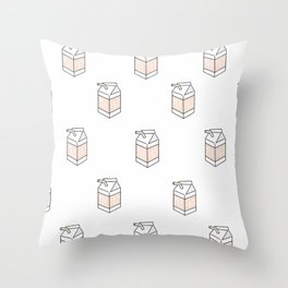 Peach Milk Cartons Throw Pillow
