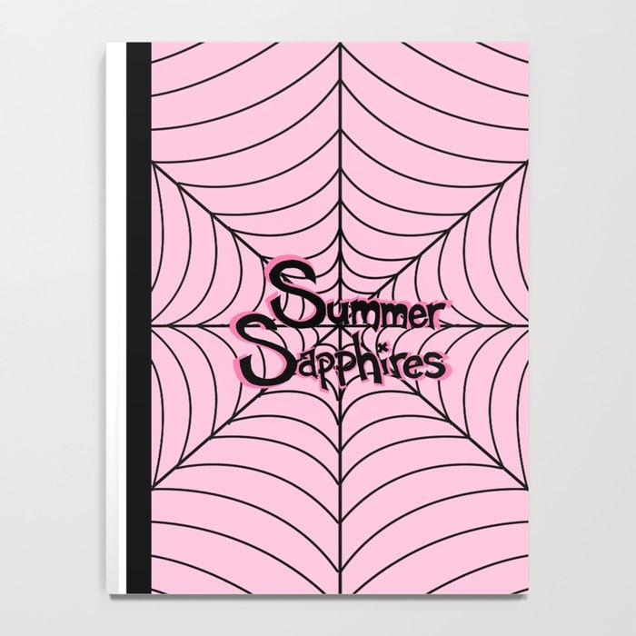 Pink Spiderweb Logo Notebook
