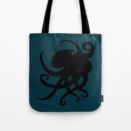 """Octopus Silhouette"" digital illustration by Amber Marine, (Copyright 2015) Tote Bag"
