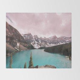 Moraine Lake Banff National Park Throw Blanket