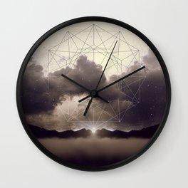 Beyond the Fog Lies Clarity | Dawn Wall Clock