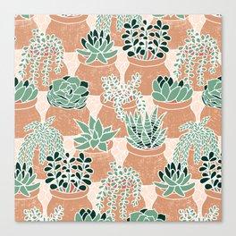 Succulent's Tiny Pots Canvas Print