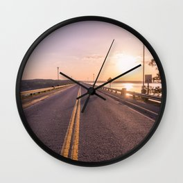 Sunset Road Wall Clock