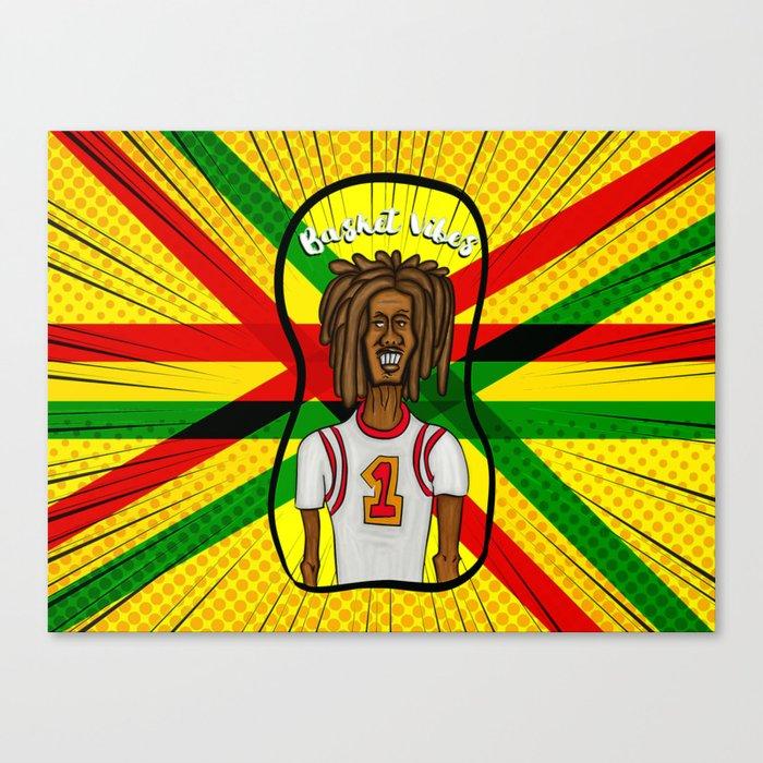 Rasta basket vibes Canvas Print