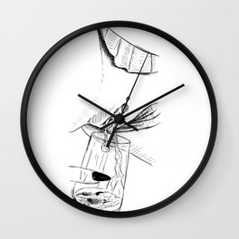 Golden Champaign Wall Clock