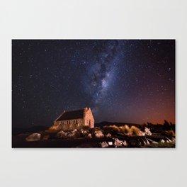 Lake Tekapo, New Zealand Night Sky Canvas Print