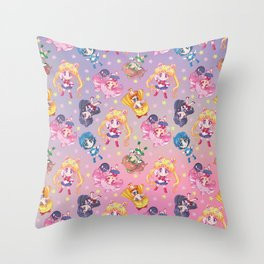 Chibi Sailor Moon Crystal Pattern Throw Pillow