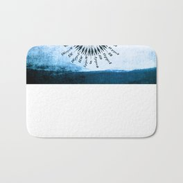 Windrose blue version Bath Mat