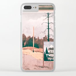 Welcome to Twin Peaks Clear iPhone Case