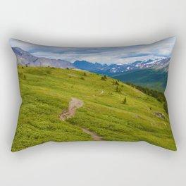 Views Along the Wilcox Pass Trail in Jasper National Park, Canada Rectangular Pillow