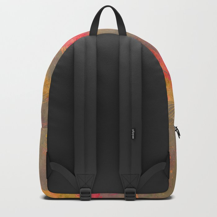 Feather pink and orange Backpack