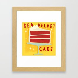 All American Classic Red Velvet Cake Framed Art Print