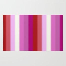 Lesbian Pride Flag v2 Rug