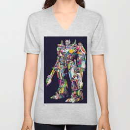 Transformer in pop art Unisex V-Neck