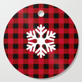 Red Buffalo Check - snowflake - more colors Cutting Board