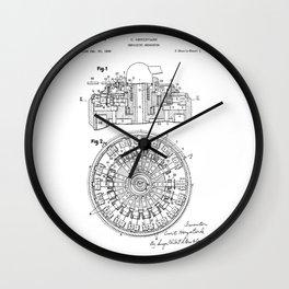 Curta Mechanical Calculator Patent Drawing (2 of 3) Wall Clock