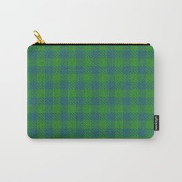 Abeytes, Blue Stone on Forest Green, Ungulate Plaid Carry-All Pouch