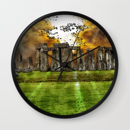 Henge at Sunsleep - Stonehenge Wall Clock