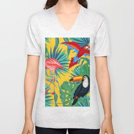 tropical yellow Unisex V-Neck